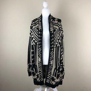 UO ECOTE   Aztec Print Open Cardigan Sweater Boho